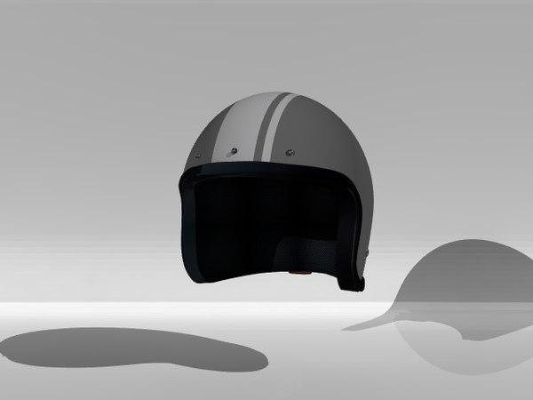 3d model open helmet