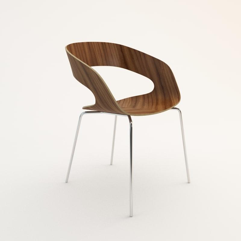 3d chat 4-leg chair model