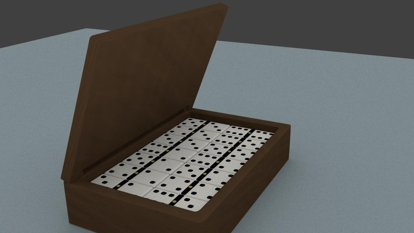 free domino box 3d model