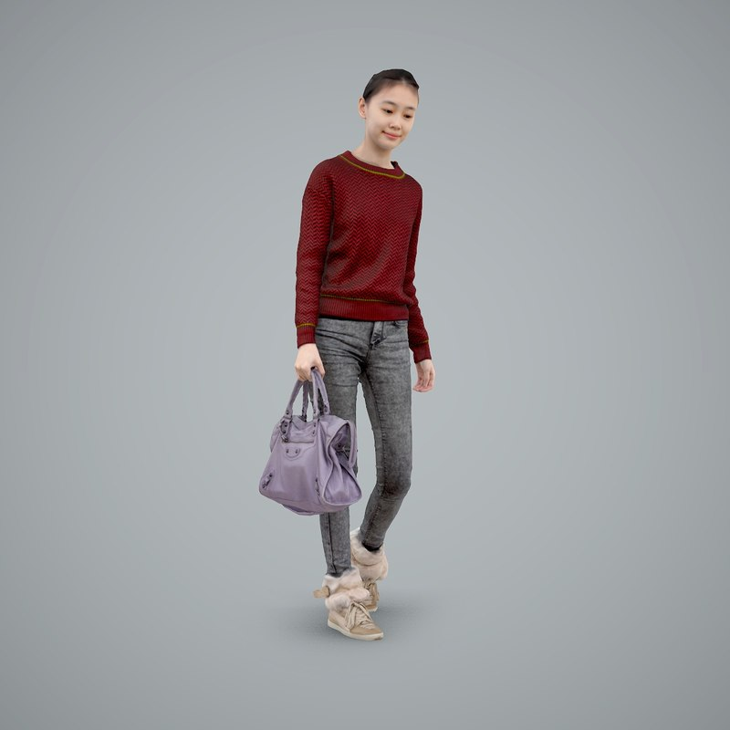3ds max axyz normal human