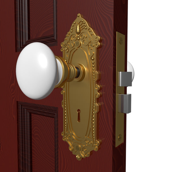 3d model door handle hardware knobs