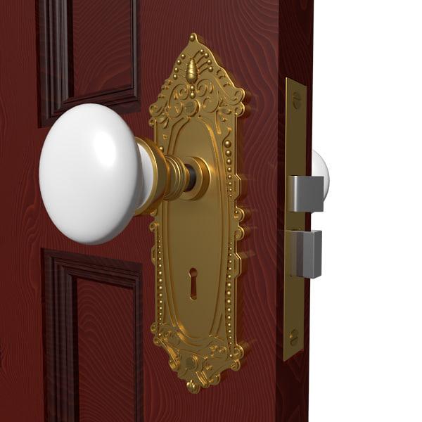 3d model door handle hardware knobs