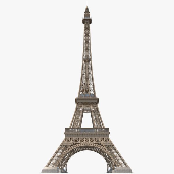 eiffel tower 2 c4d
