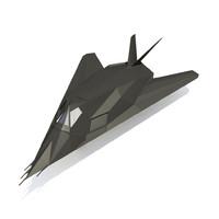 ready f-117 3d model