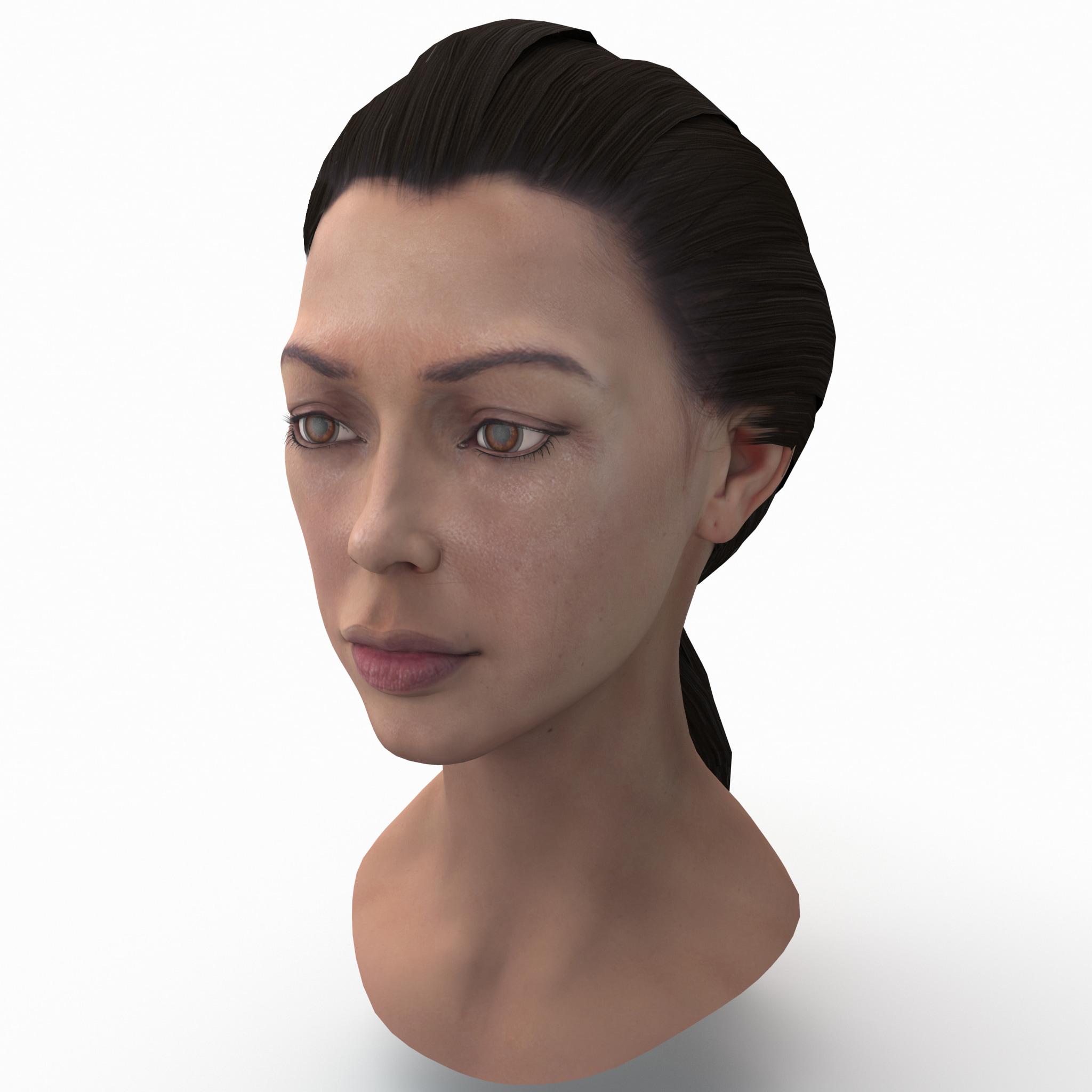 female head 3 3d model