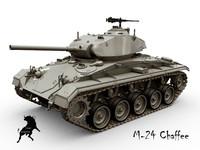 tank chaffee 3d max