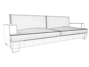 3d vita lounge sofa model