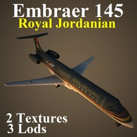 3d embraer rja model