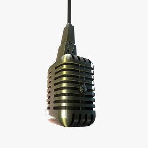 3ds vintage microphone