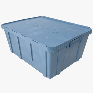 3d model of plastic crate lid