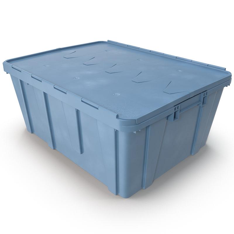 3d model of plastic crate lid
