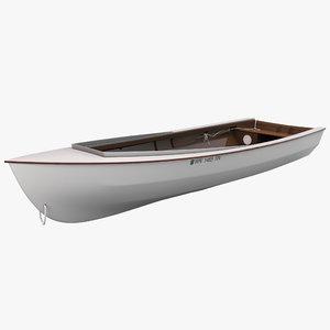 skiff boat 3d model