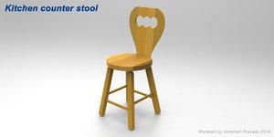 3d 3ds kitchen stools