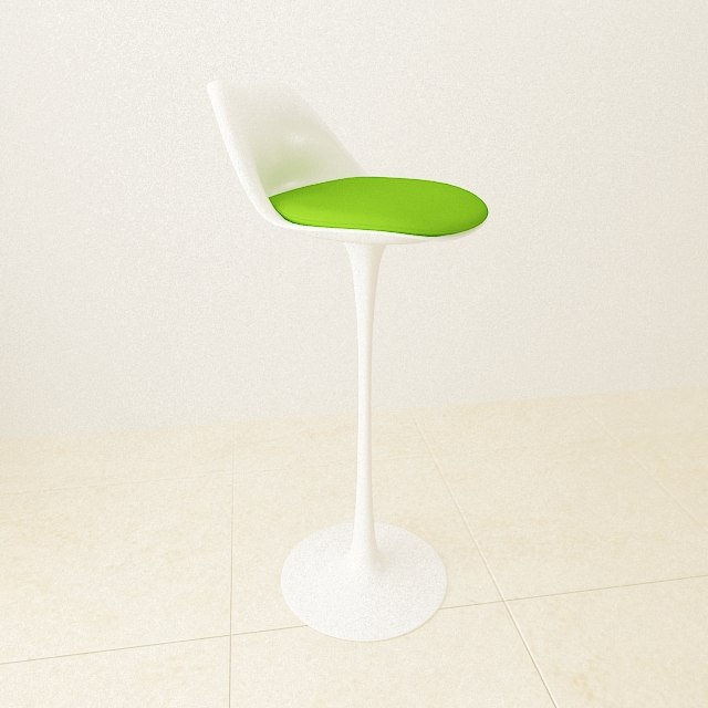 3d model tulip chair stool