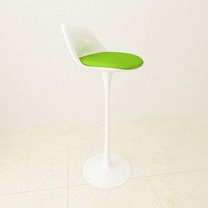 3d model tulip chair stool