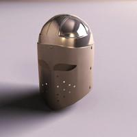 knight helmet 3d x