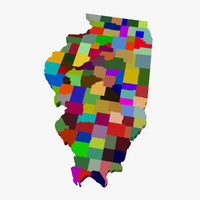 County Map-Illinois