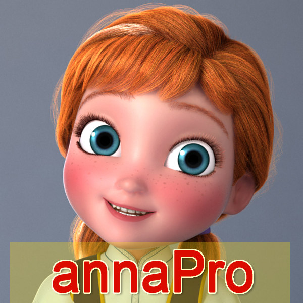 Anna frozen young rigged 3d model turbosquid