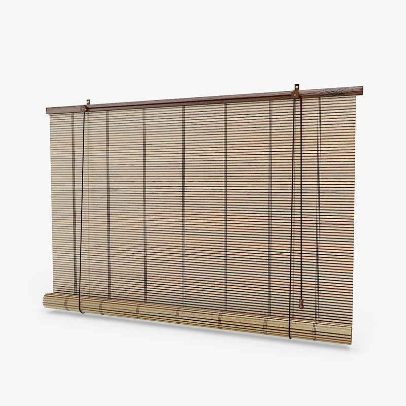 3d bamboo blinds model