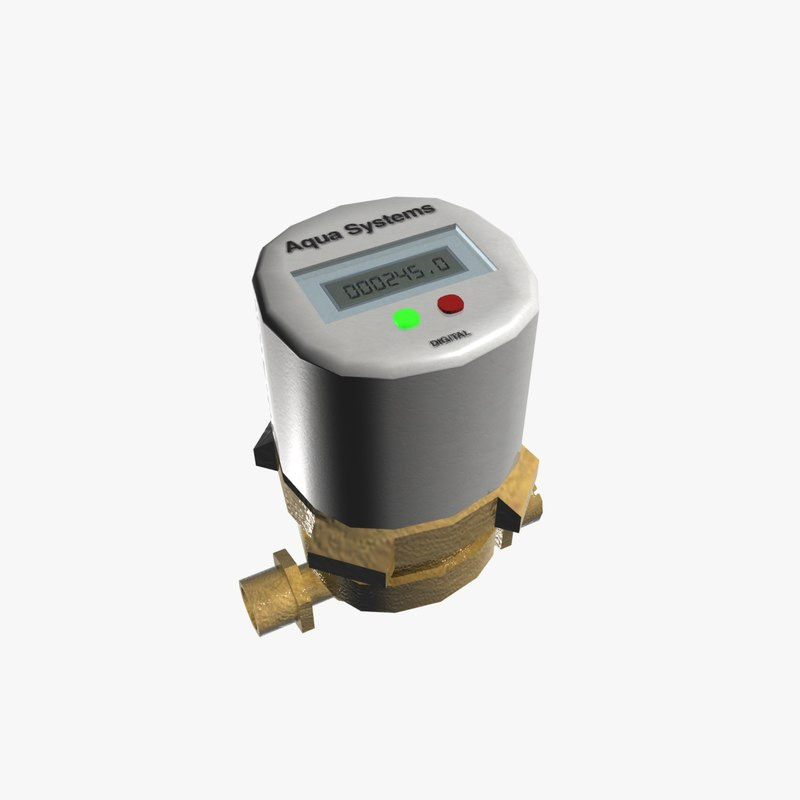 3d model small water pump