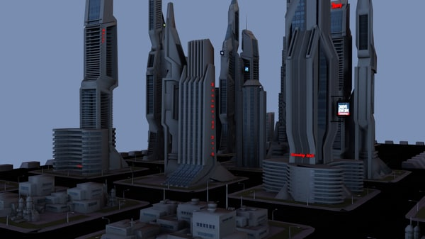 maya scifi city