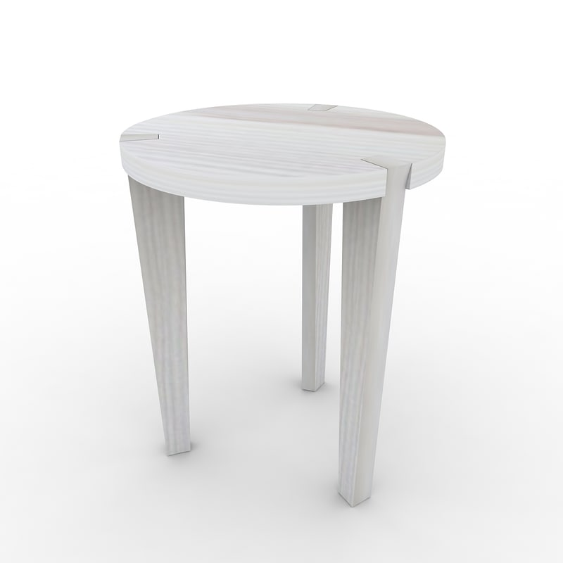 3dsmax small wooden table wood