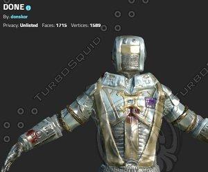 space paratrooper 3d model