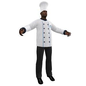 3d chef hat model