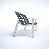 3d metal bench model