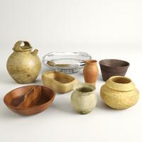 3d model bowl set