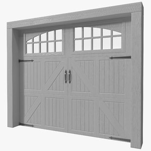 3d carriage garage door
