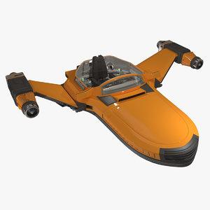 3d sci-fi glider c