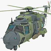 Military Helicopter NHIndustries NH90 Rigged