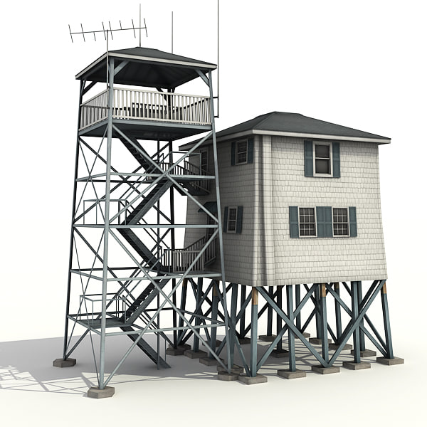 3dsmax low-poly radio tower