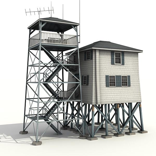 3dsmax low-poly radio tower