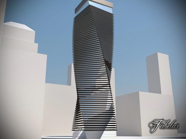 3ds skyscraper modular mentalray
