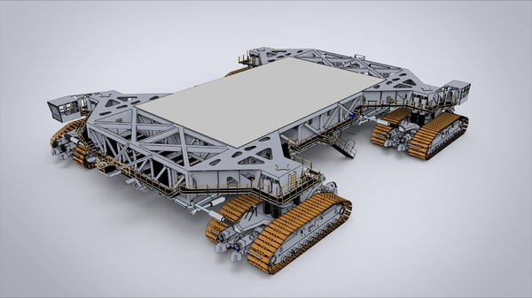 crawler transporter 3d model