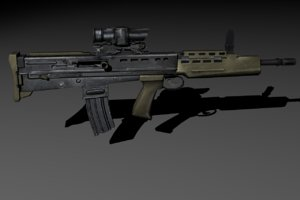 3d model sa80 assault rifle