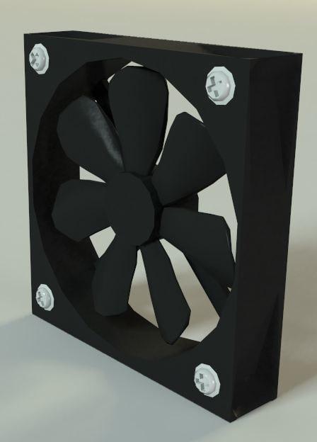 computer case fan 3d model