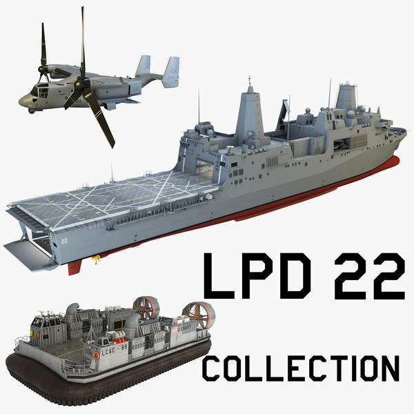 uss lpd22 3d max