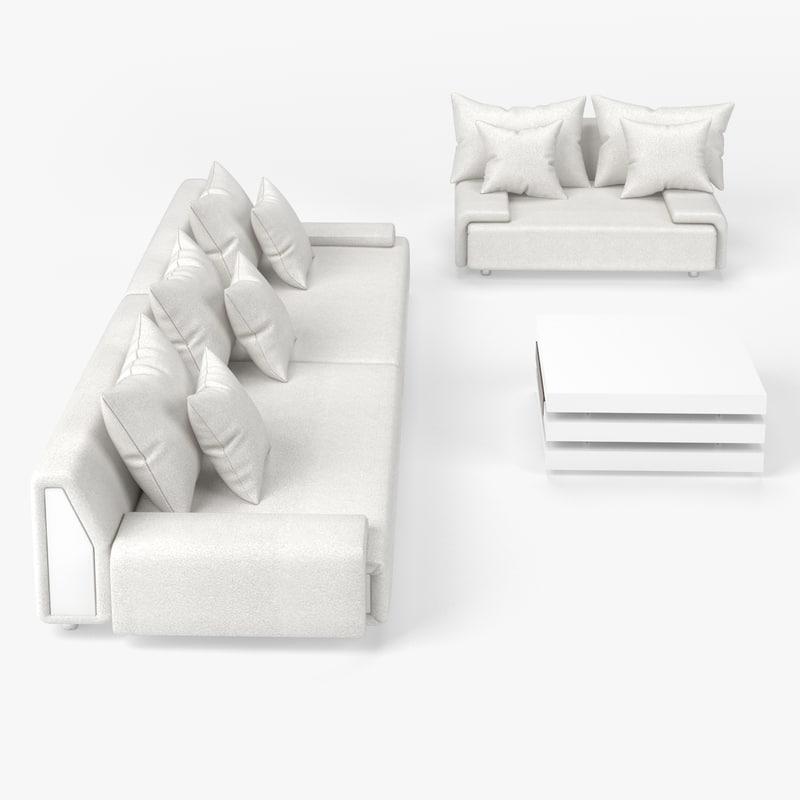 living room set 3d max