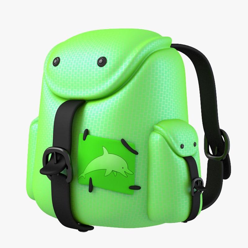 3d pack green