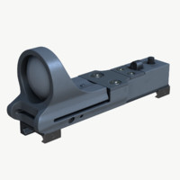 3d max c-more reflex sight red