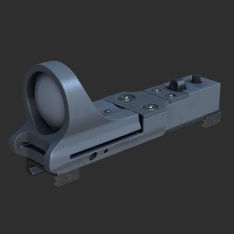 3d max c-more reflex sight red