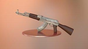 free x model ak-47 gun