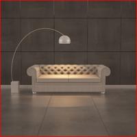 nice sofa 06 3d model