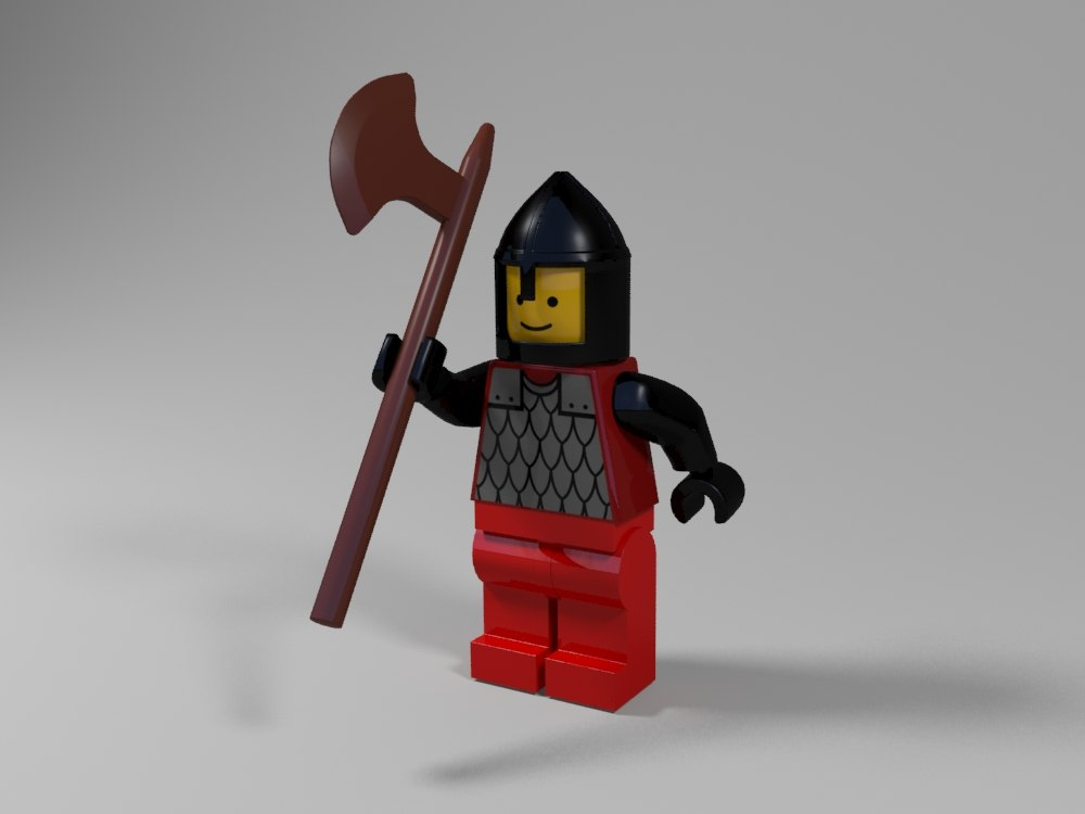 3d model lego medieval character 1