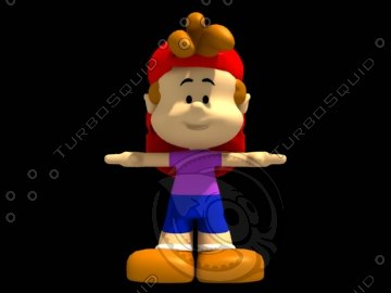 little boy toon 3d model