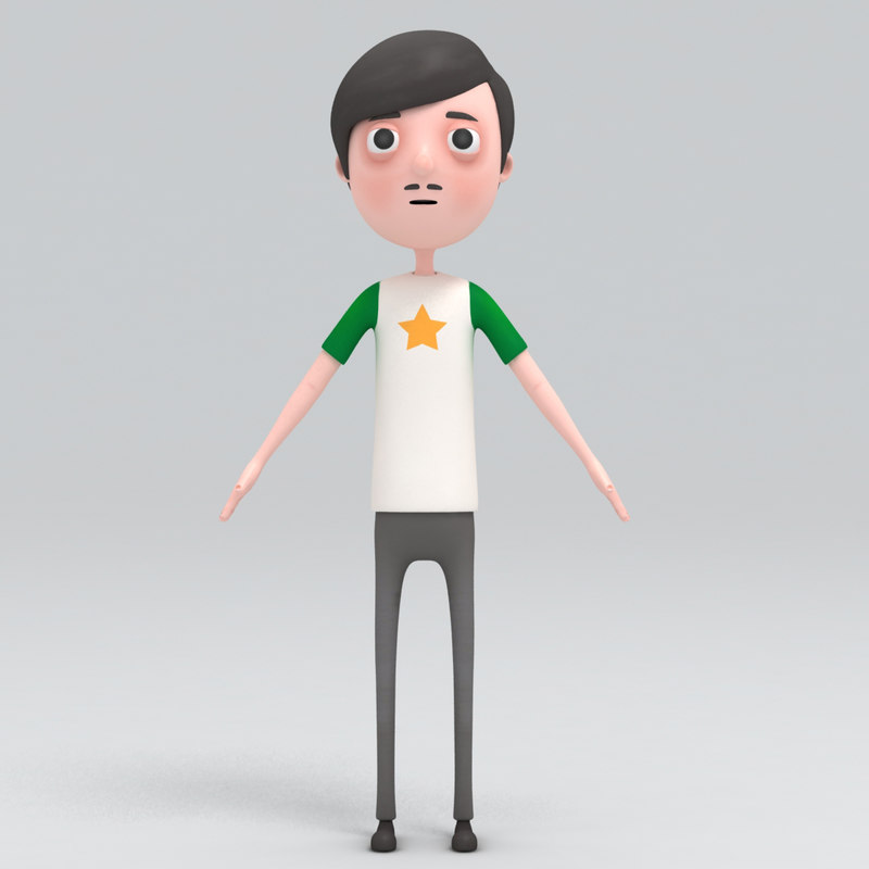 3d man cartoon model
