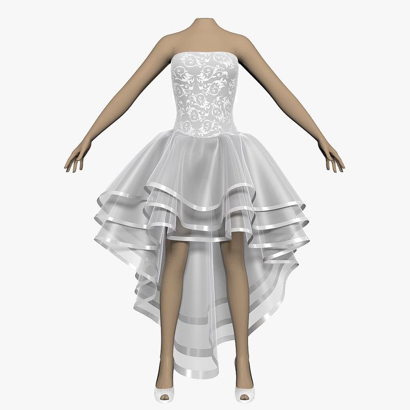 3d wedding dress female shoes